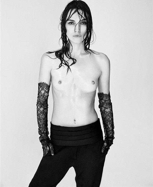 Keira Knightley Poses Topless In Interview Magazine