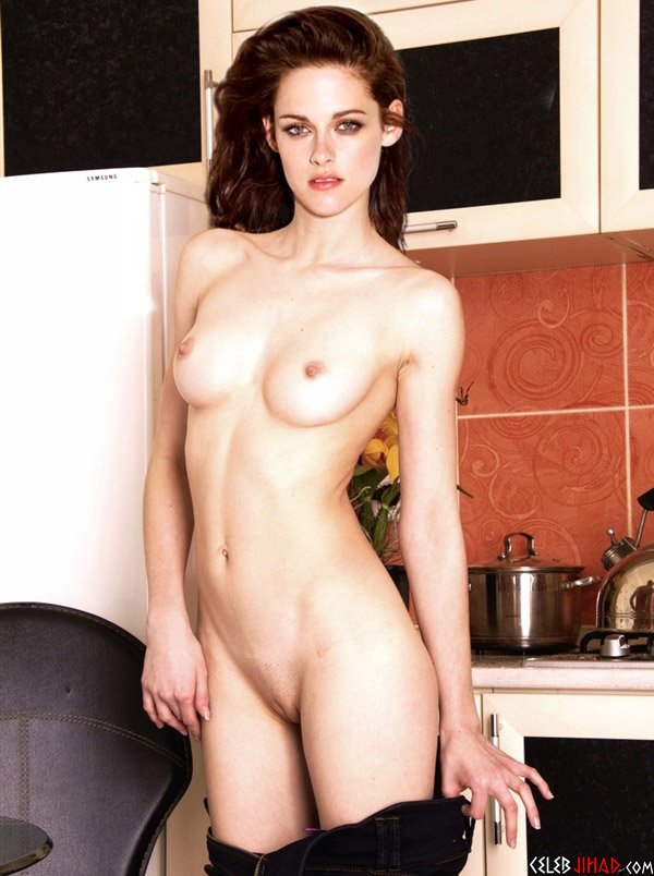 Kristen Stewart Strips Naked In The Kitchen