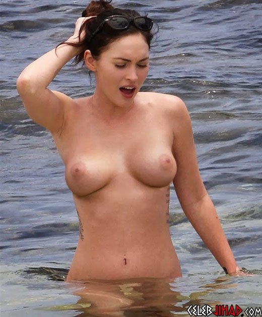 Megan Fox Topless In The Ocean