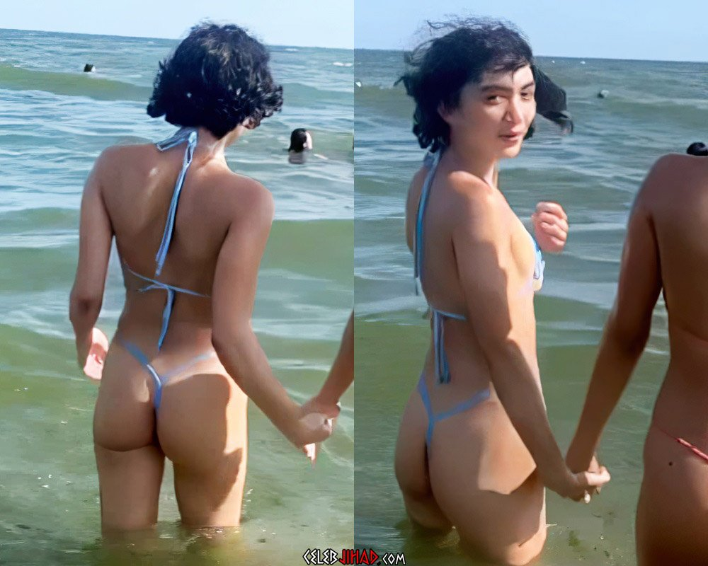 Rowan Blanchard Teen Tits And Ass In A Tiny Thong String Bikini