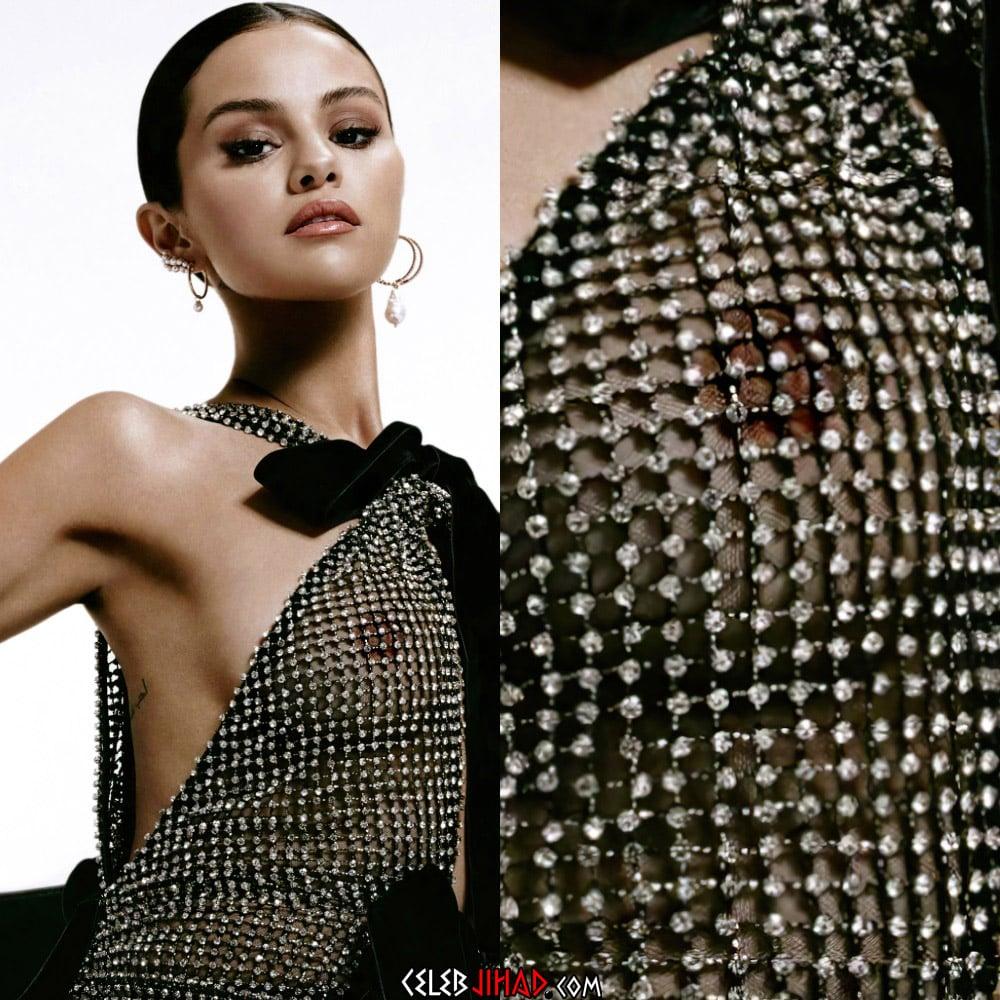 Selena Gomez Shows Her Nipple In A See Thru Dress