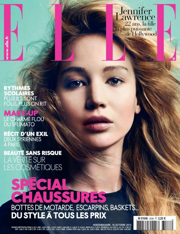 Jennifer Lawrence ELLE Magazine France Cover Girl ...