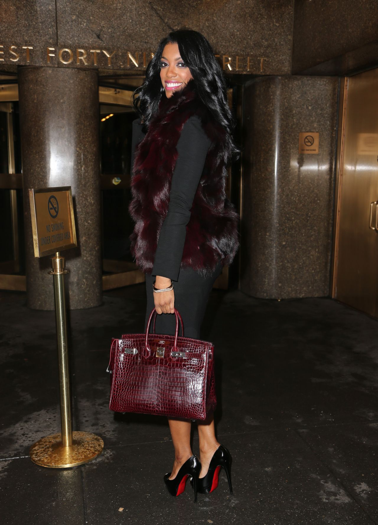 Porsha Williams Style Leaving The NBC Studios In New