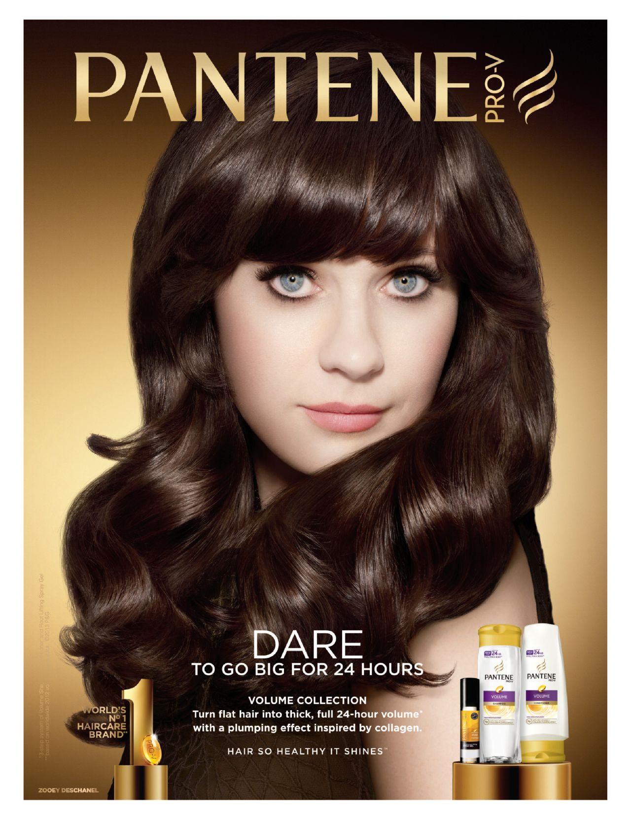 Zooey Deschanel Pantene Pro V Ad Campaign 2013