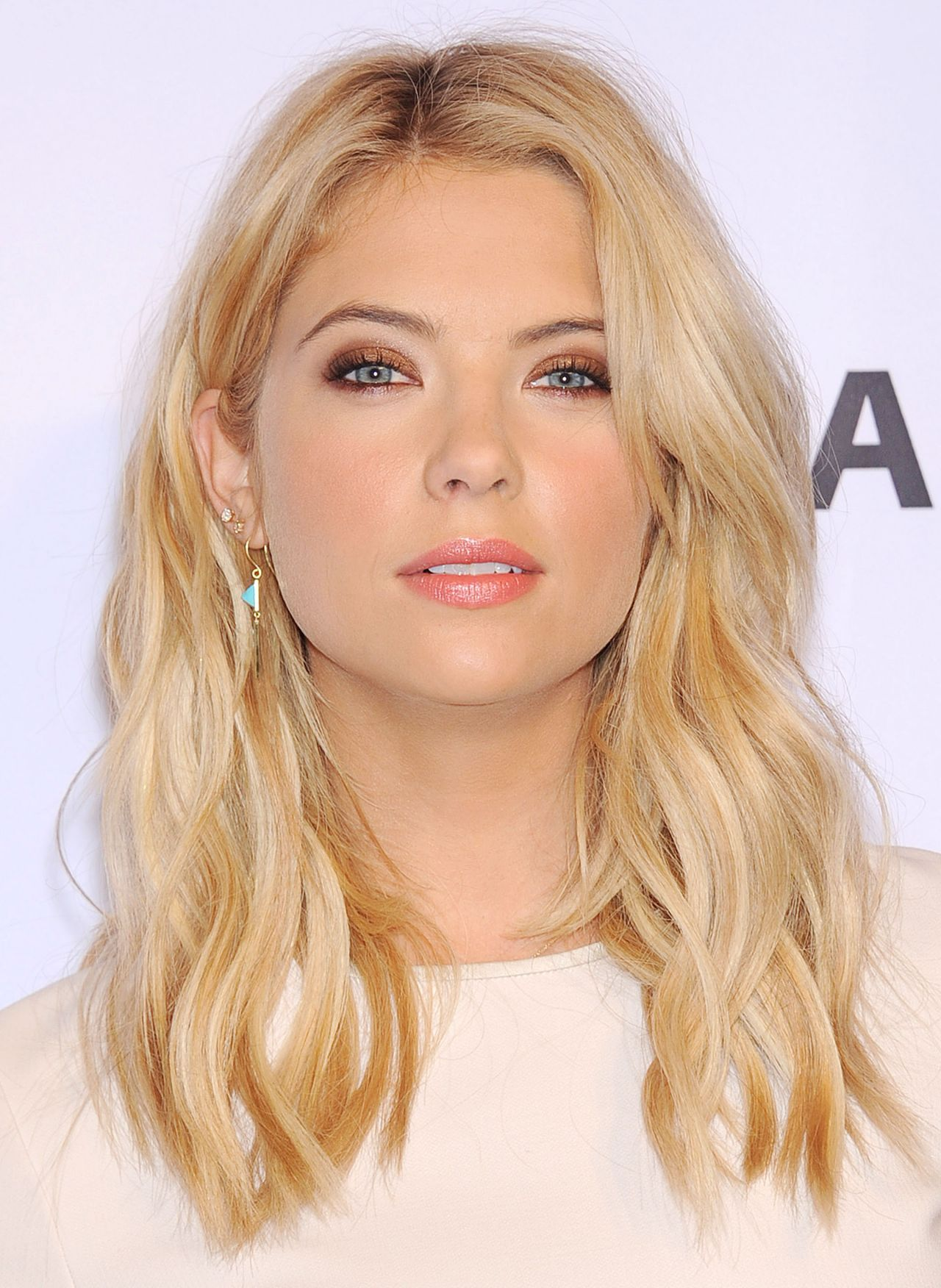 Ashley Benson Wearing Alberta Ferretti Peplum Short Dress