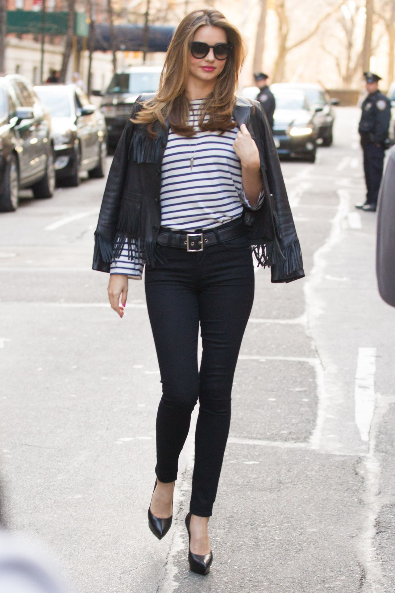 Miranda Kerr In New York City Filming A Commercial