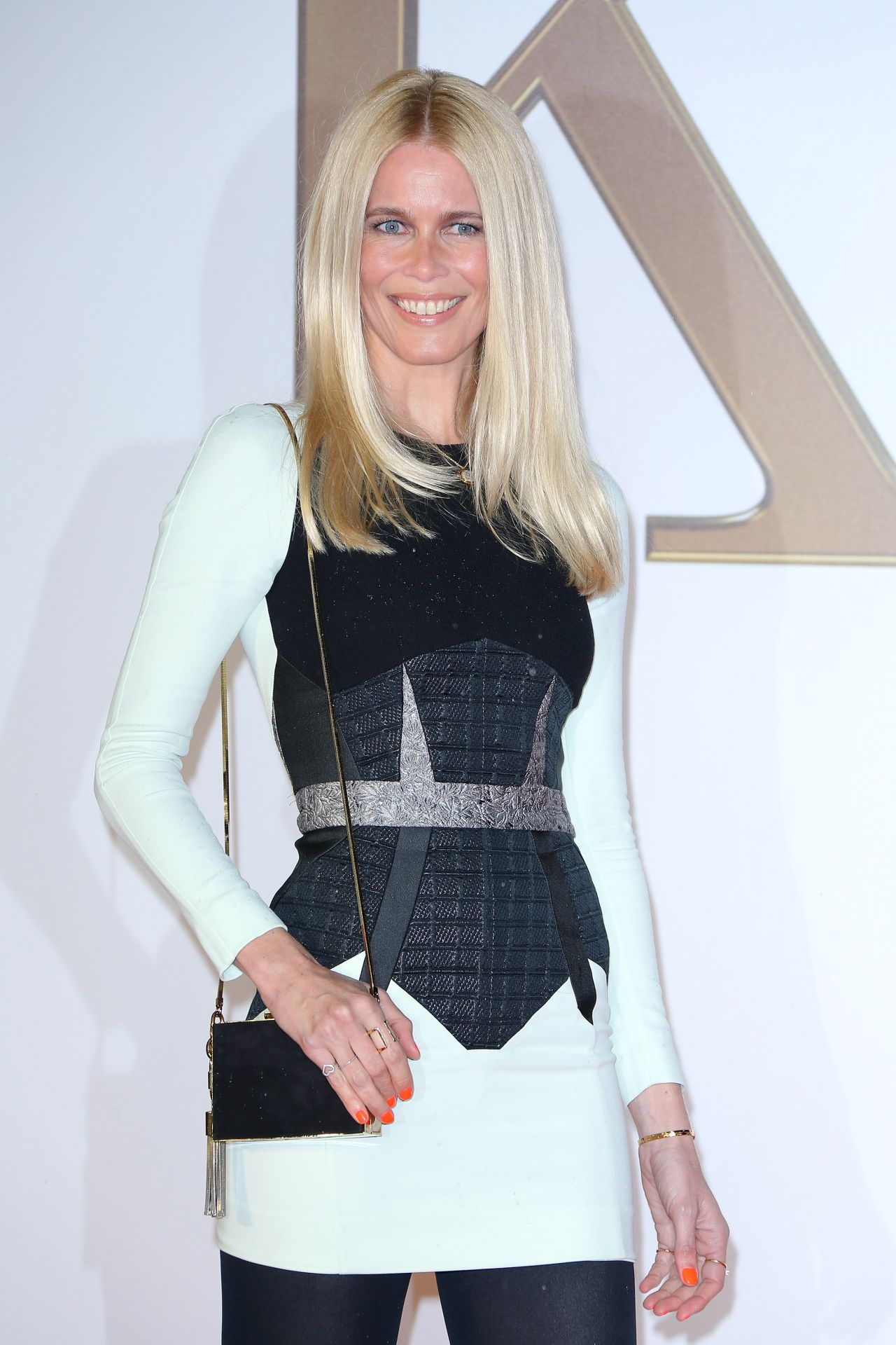 Claudia Schiffer On Red Carpet Kingsman The Secret Service Premiere In London