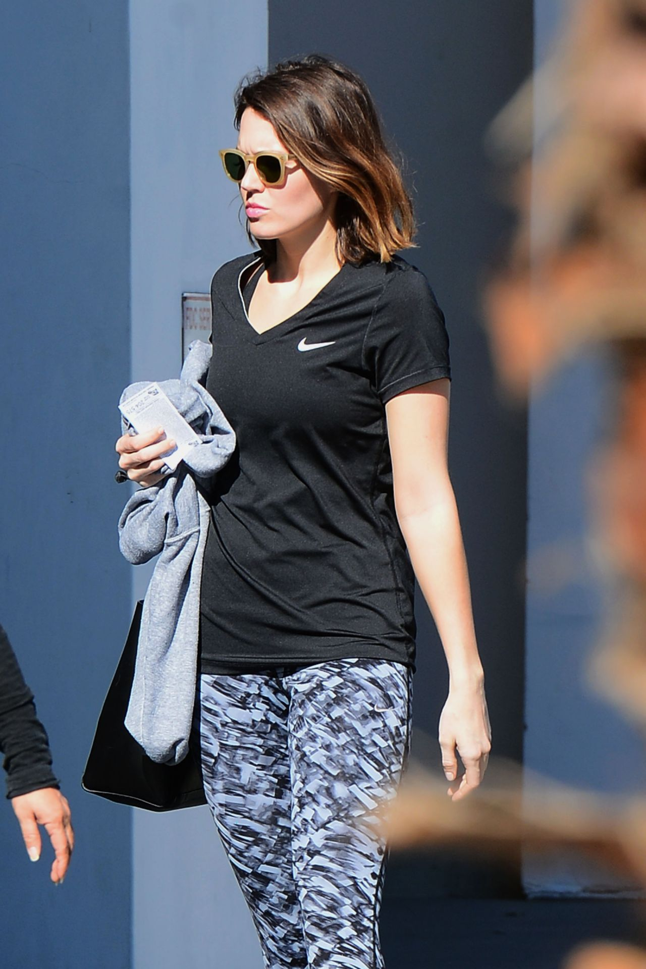 Mandy Moore Street Style Leaves The Gym In Los Angeles