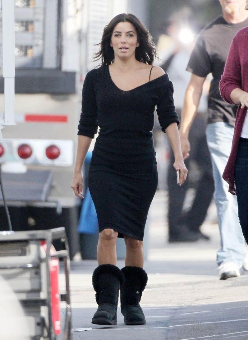 Eva Longoria Casual Style Filming In Malibu February 2015