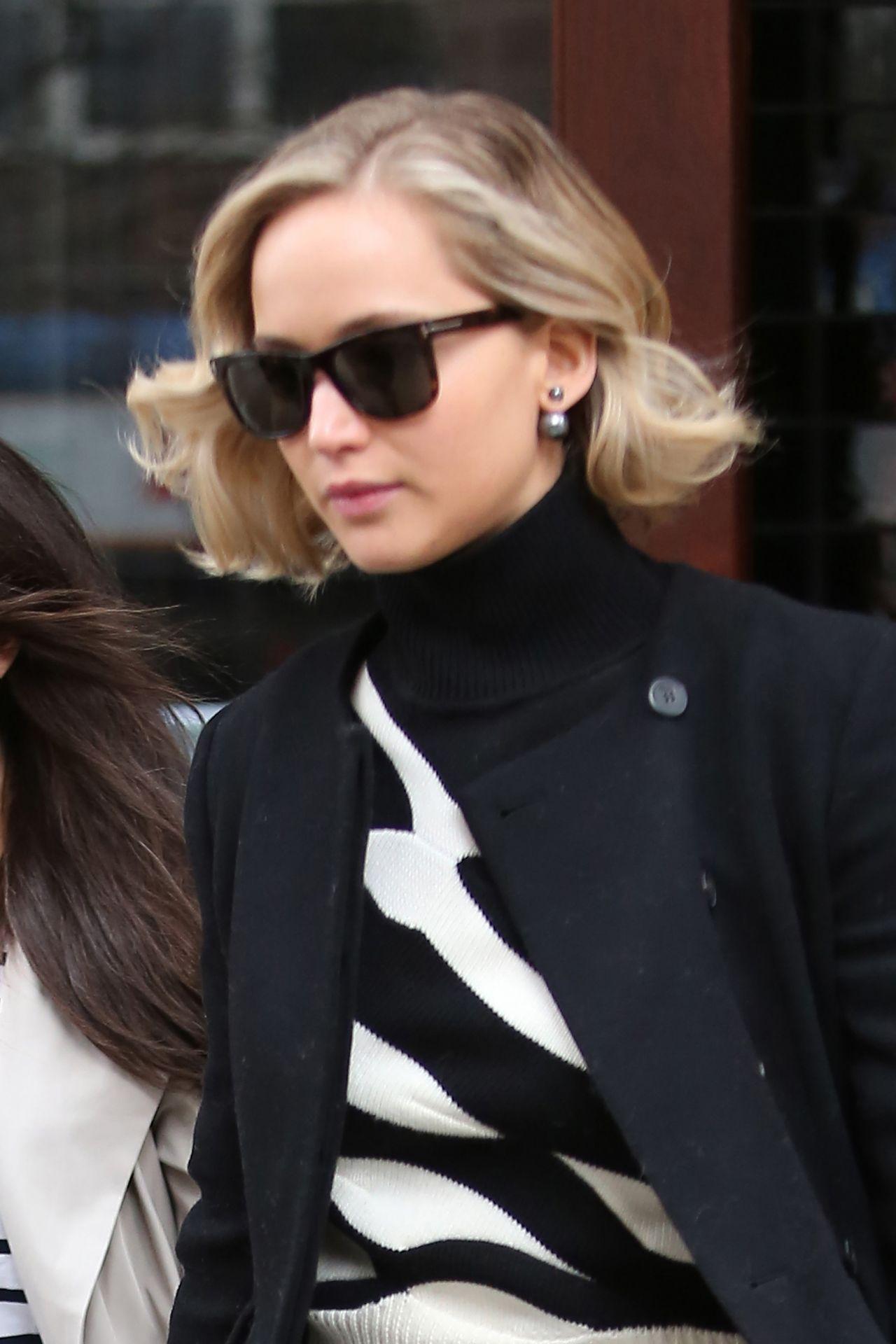 Jennifer Lawrence Style Leaving Greenwich Hotel In New