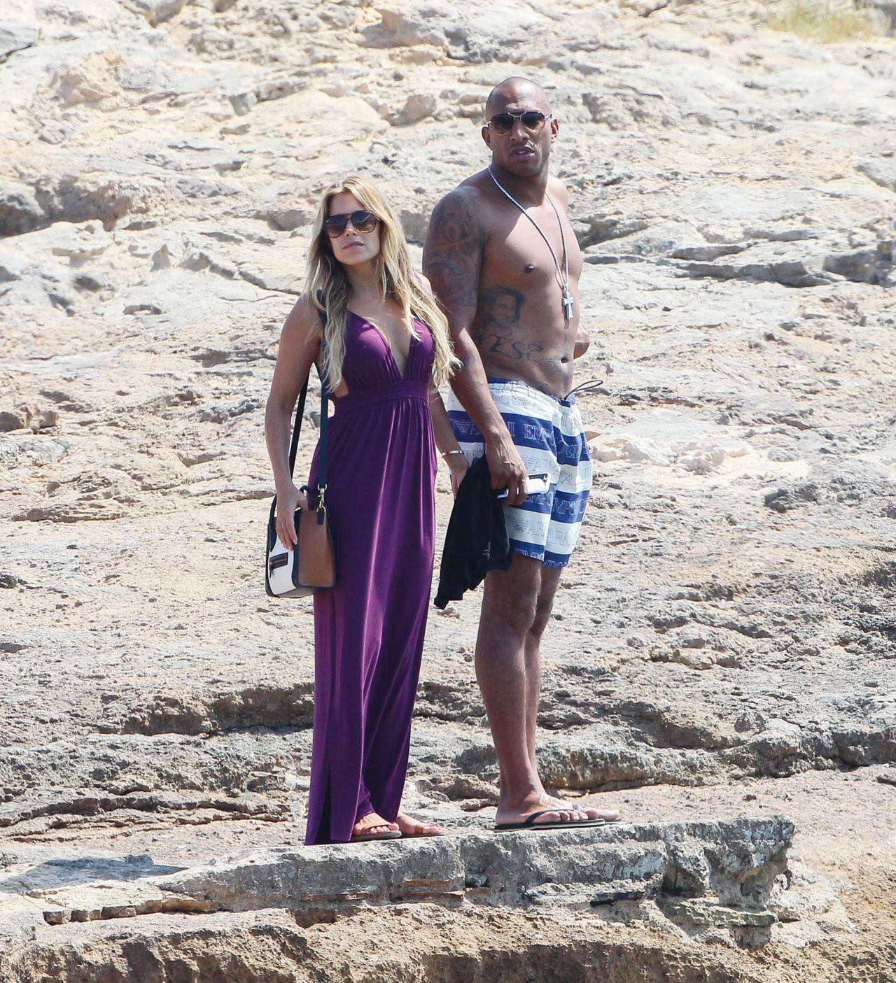Sylvie Meis In A Bikini With Boyfriend In Formentera