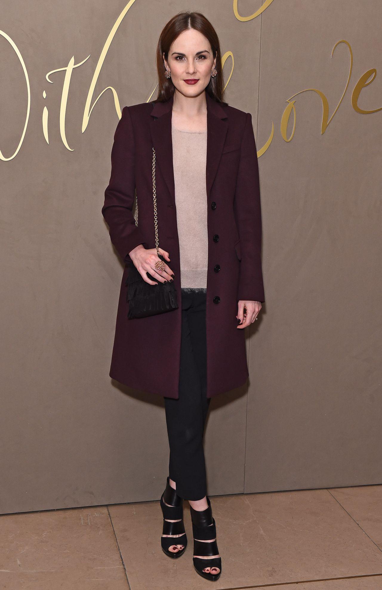 Michelle Dockery Burberry Festive Film Premiere In London