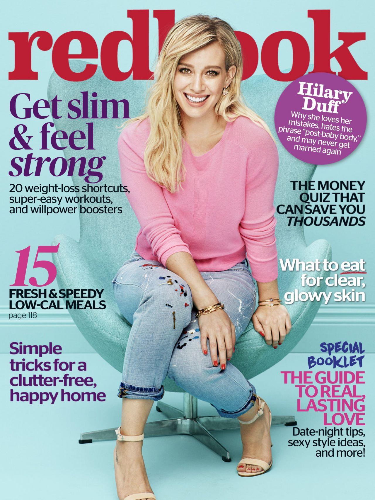 Hilary Duff Redbook Magazine February 2016 Issue