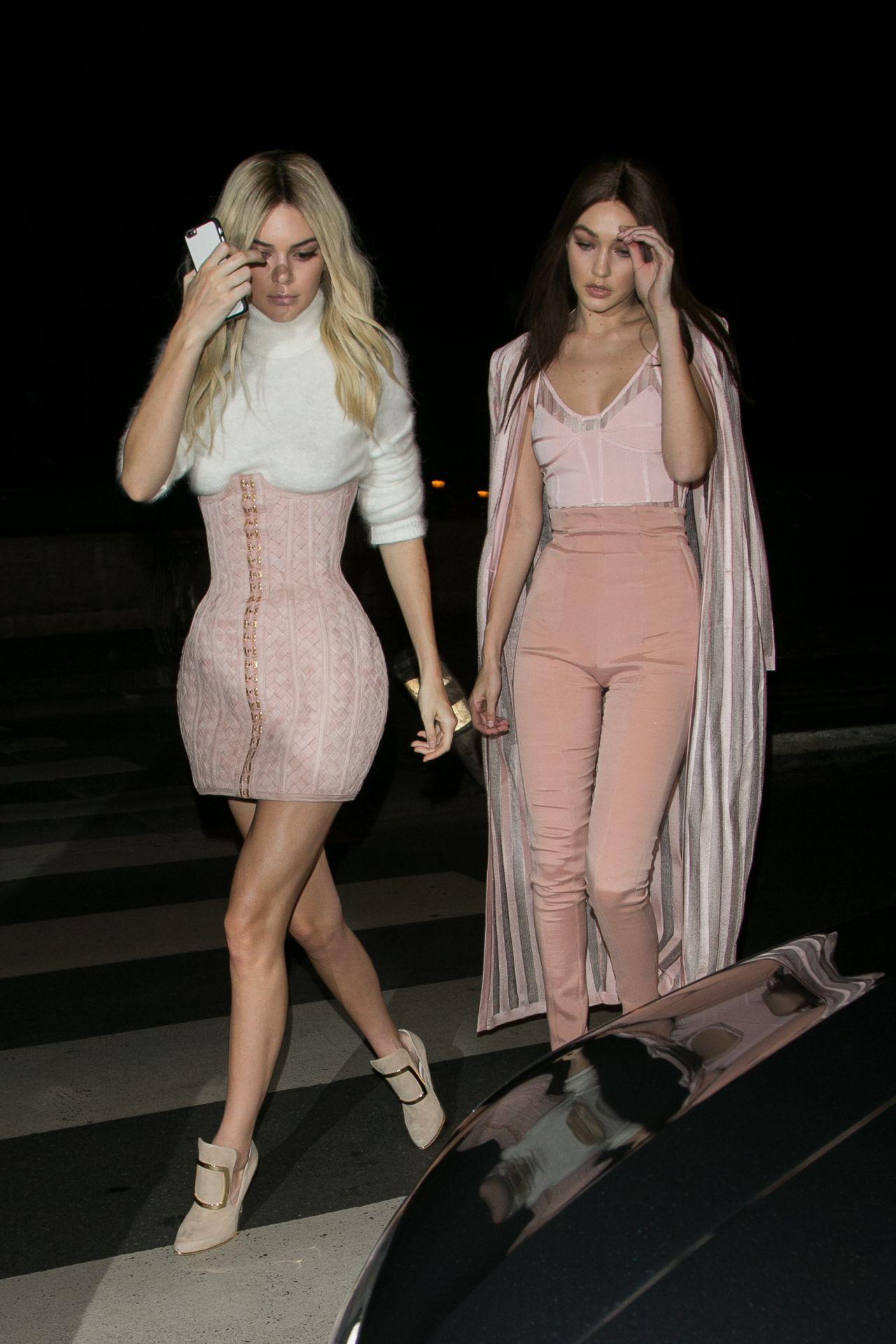 Kendall Jenner And Gigi Hadid Heading To The Balmain