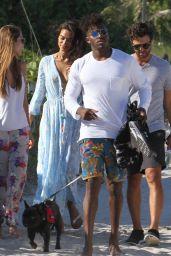 Shanina Shaik With Boyfriend DJ Ruckus on The Beach in Miami Beach 4/24/2016