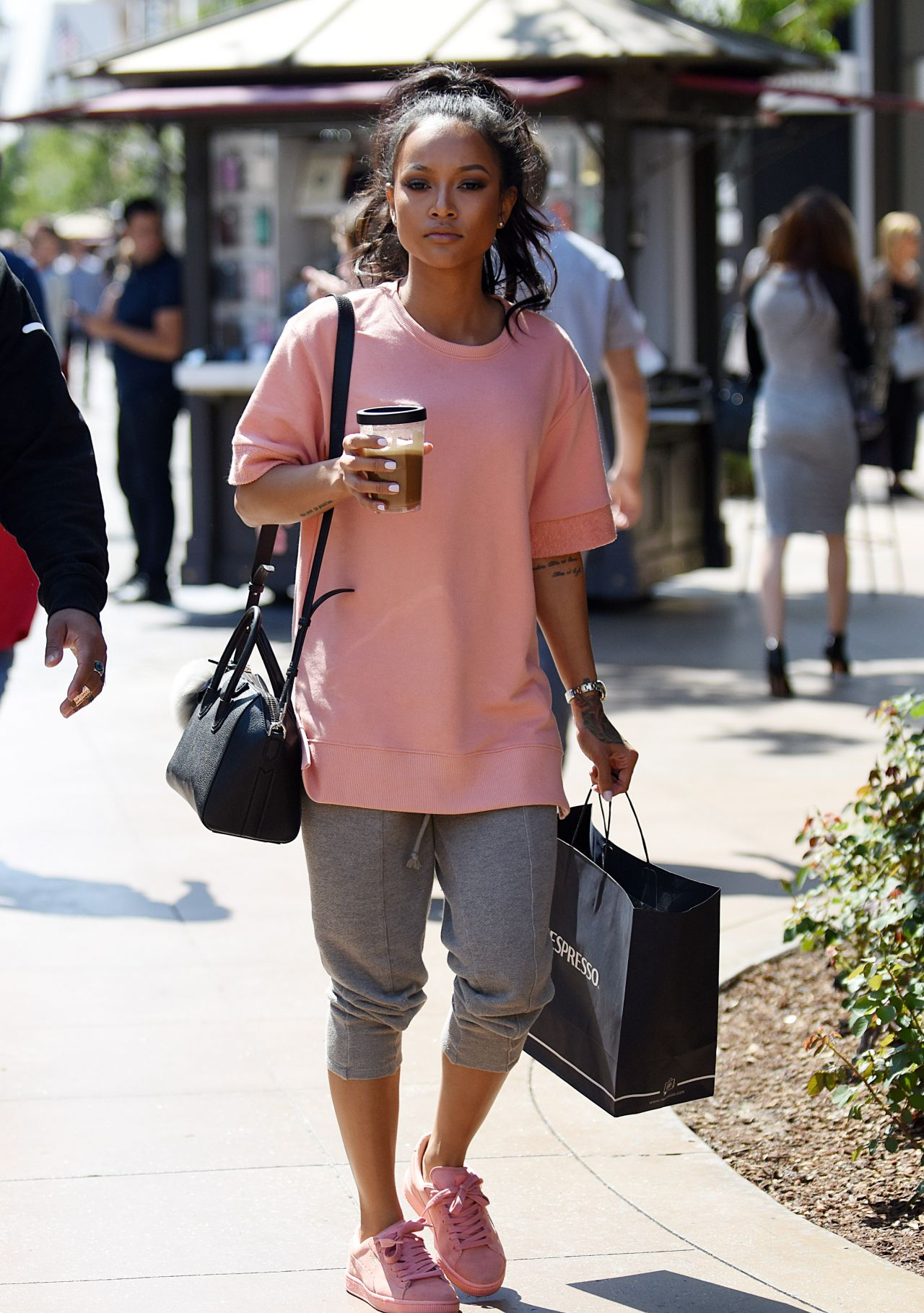 Karrueche Tran Hit The Grove Mall For Some Retail