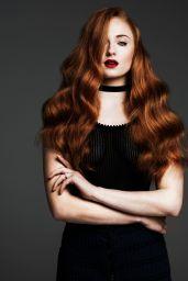 Sophie Turner - Sheer Black Stockings - Just Jared Spotlight photoshoot May 2016