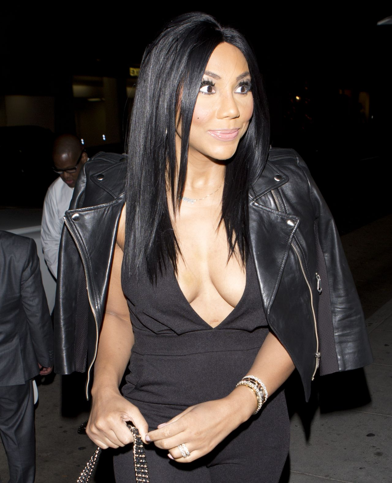Tamar Braxton Arriving For Dinner At Mr Chow