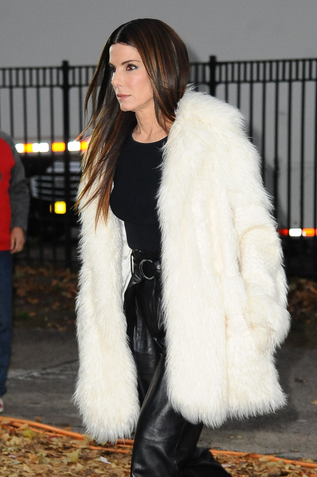 Sandra Bullock Looking Fancy In Fur For Oceans Eight