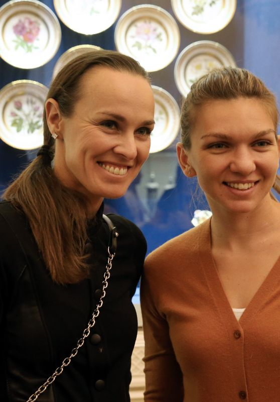 Martina Hingis & Simona Halep at the Faberge Museum in St. Petersburg 1/31/ 2017
