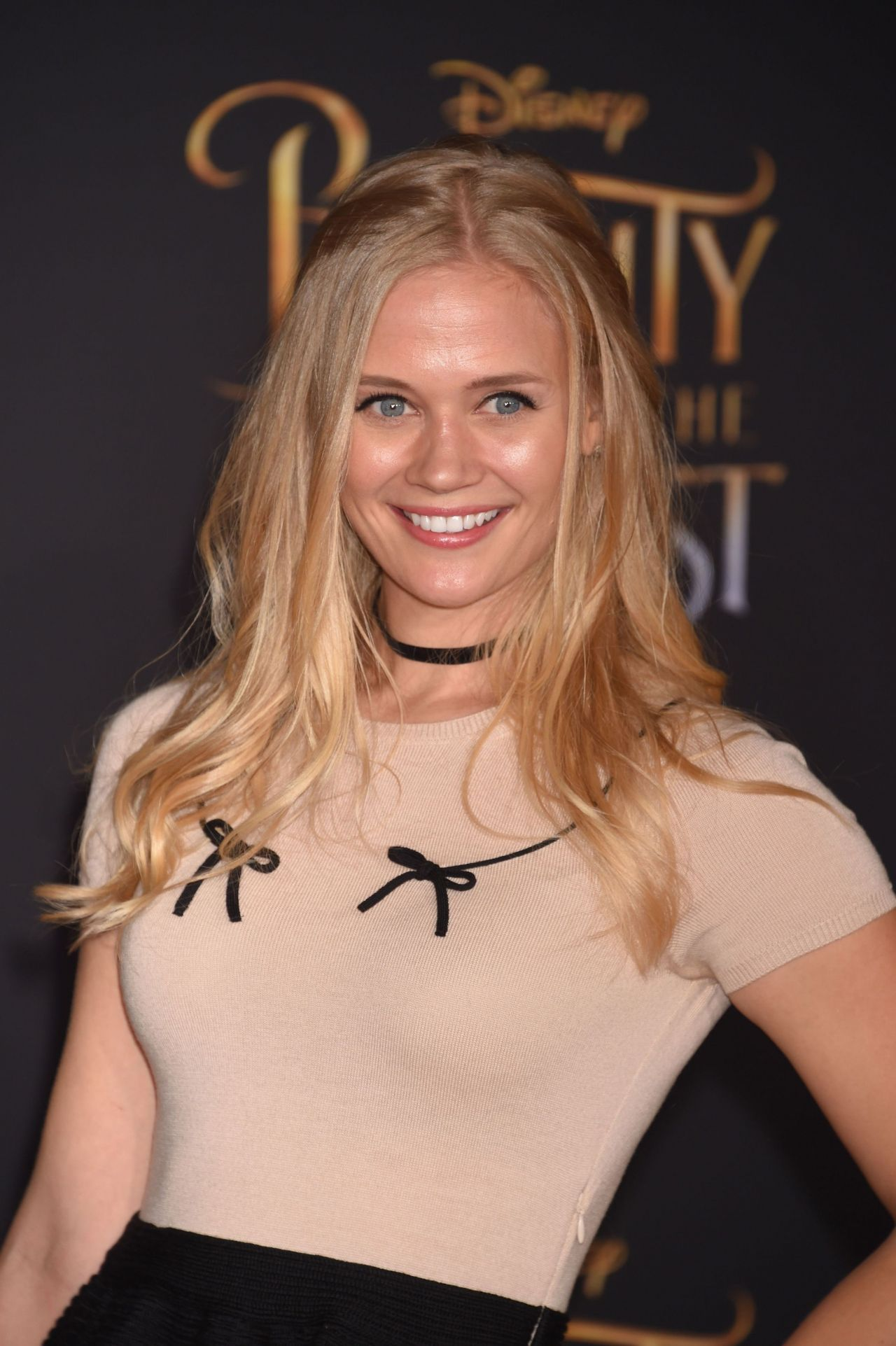 Carly Schroeder Beauty And The Beast Movie Premiere In