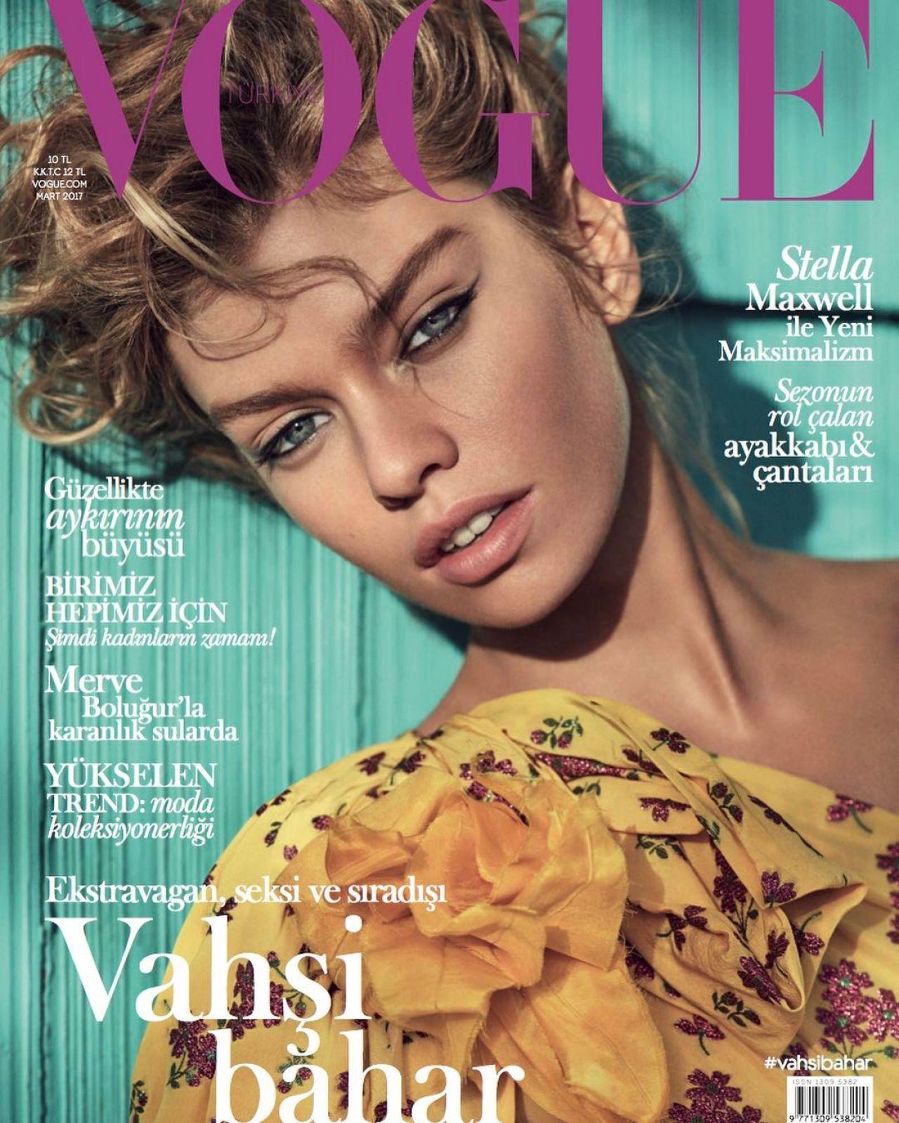 Stella Maxwell Vogue Turkey March 2017 Cover