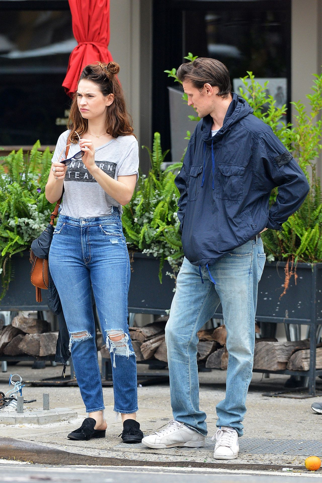 Lily James Enjoying A Day Out In NYC 07242017
