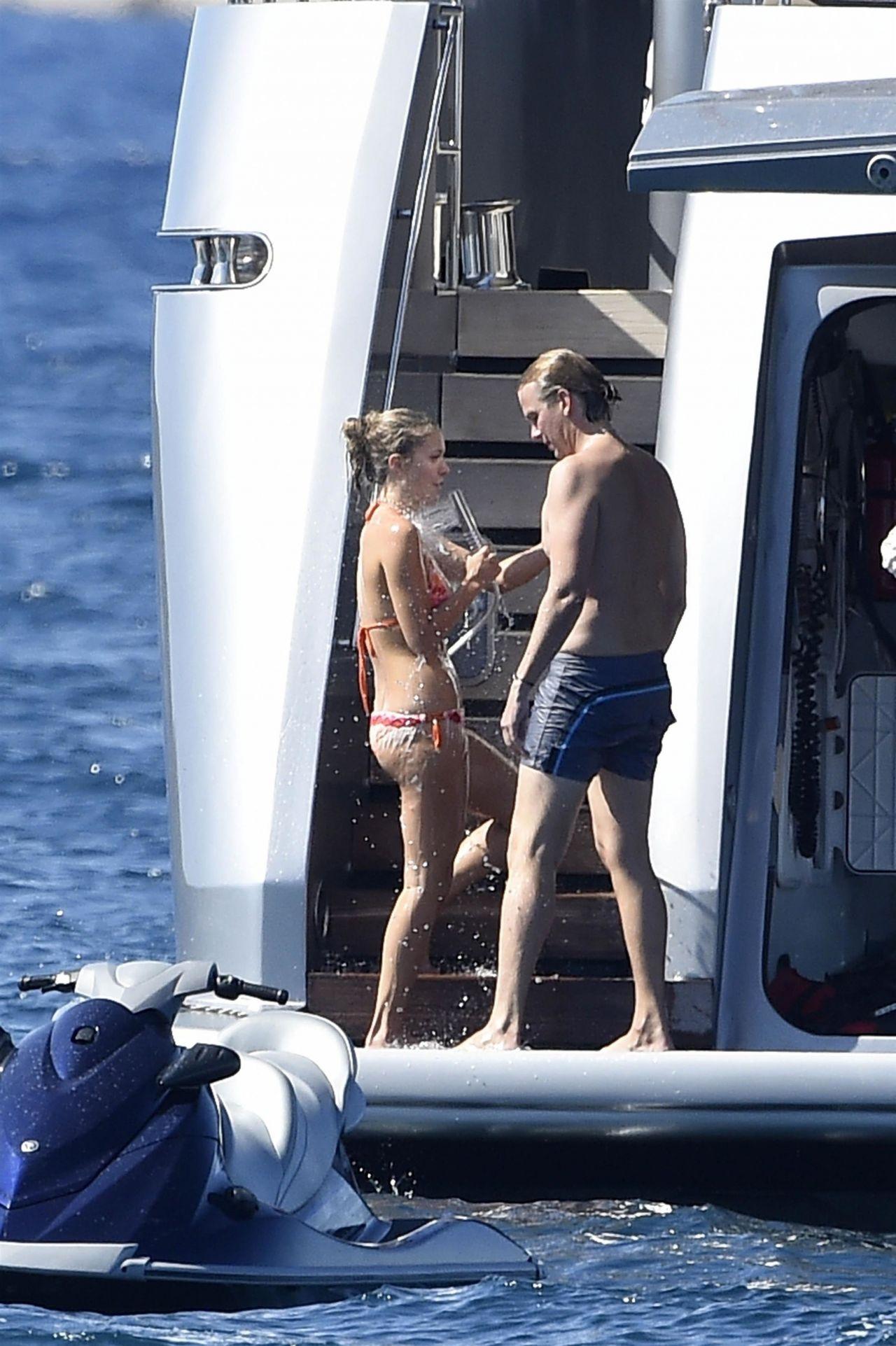 Barbara Meier And Victoria Swarovski On A Luxury Yacht In