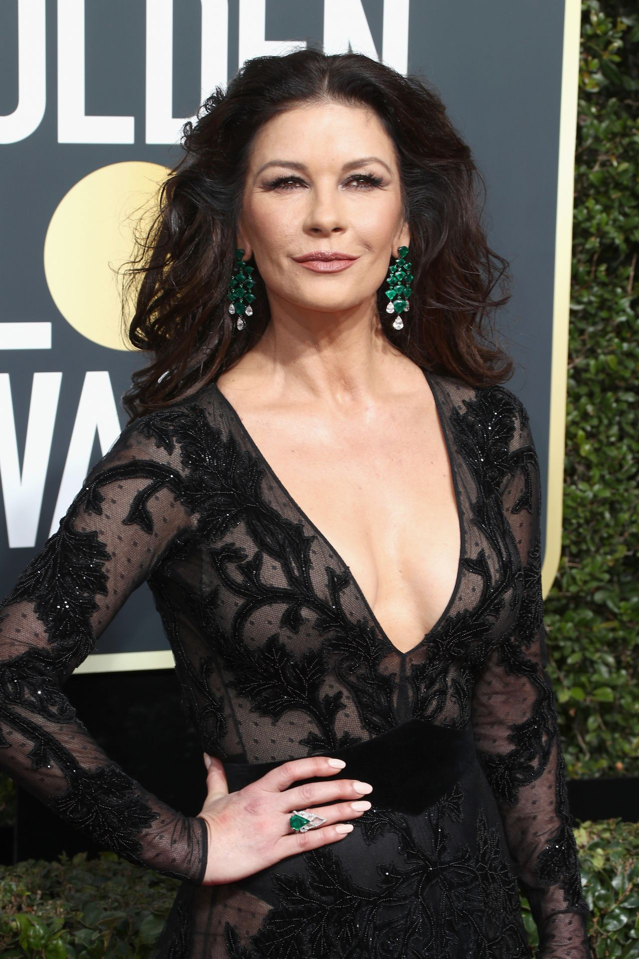 Catherine Zeta Jones – Golden Globe Awards 2018 in Beverly Hills