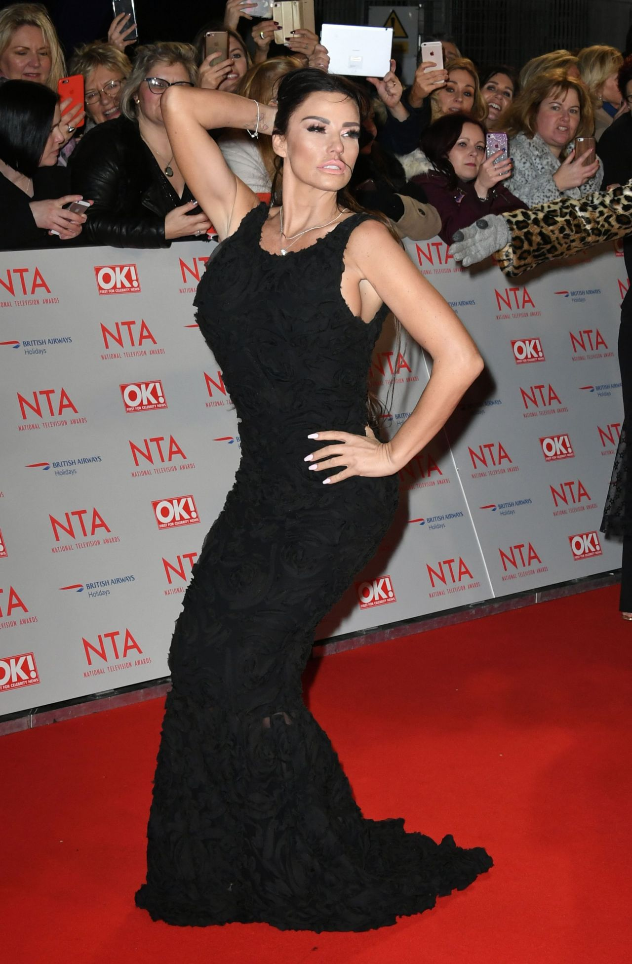 Katie Price 2018 National Television Awards In London