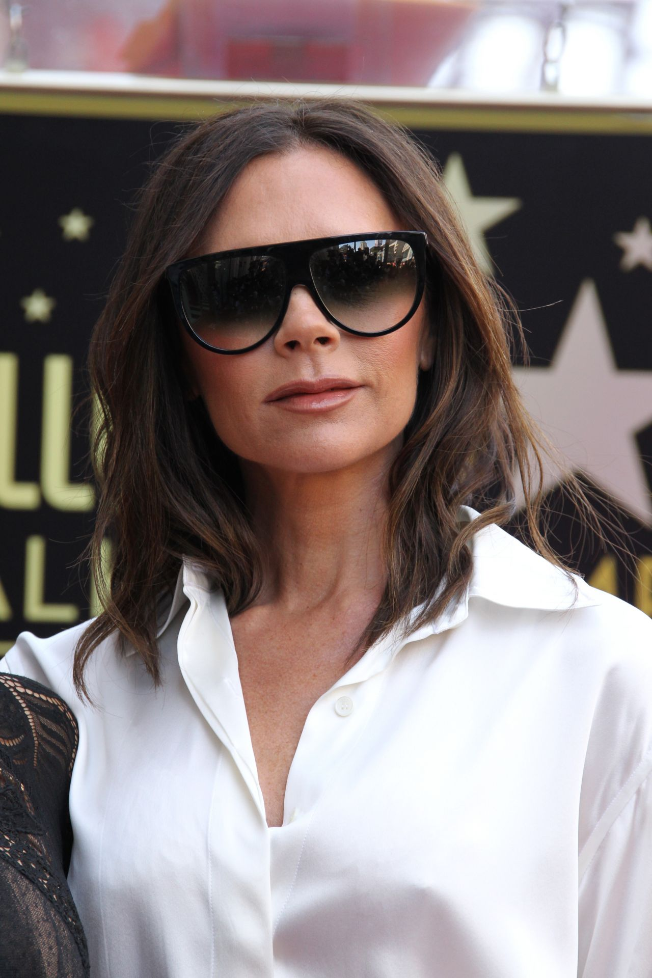 Victoria Beckham Eva Longoria Hollywood Walk Of Fame In LA