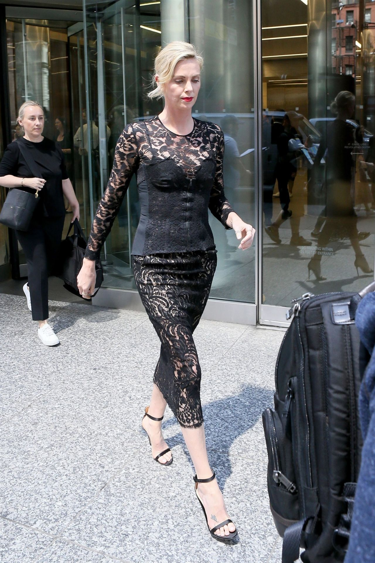 Charlize Theron Returns Back At Her Hotel In New York