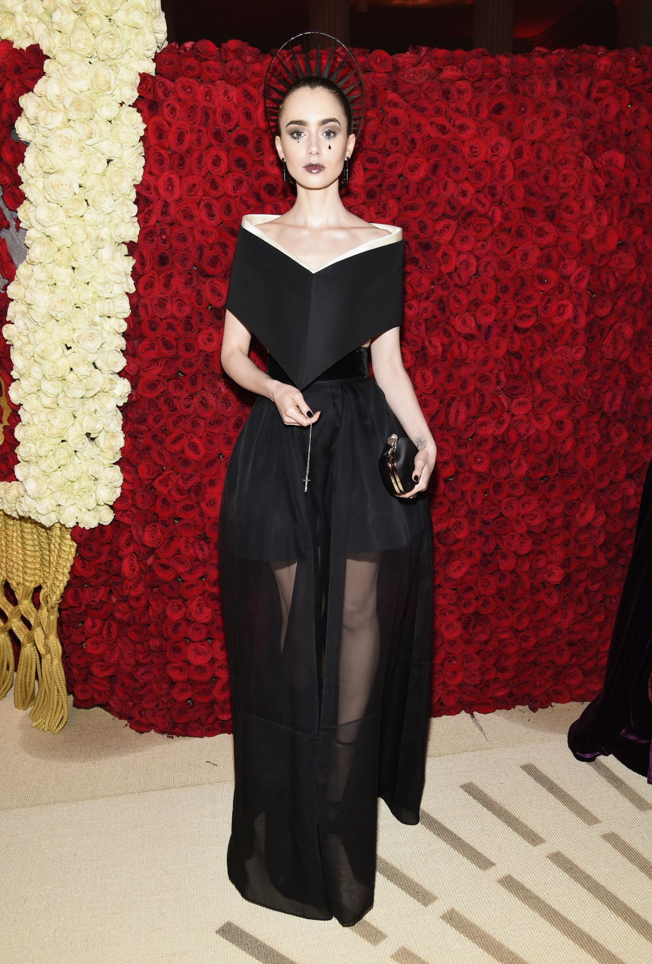 Image result for lily collins met gala 2018