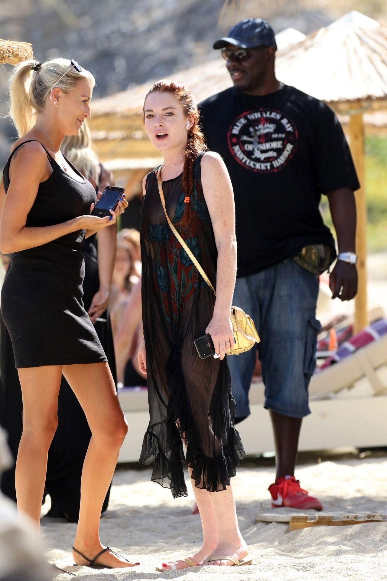 Lindsay Lohan Lohan Beach House In Mykonos 06072018