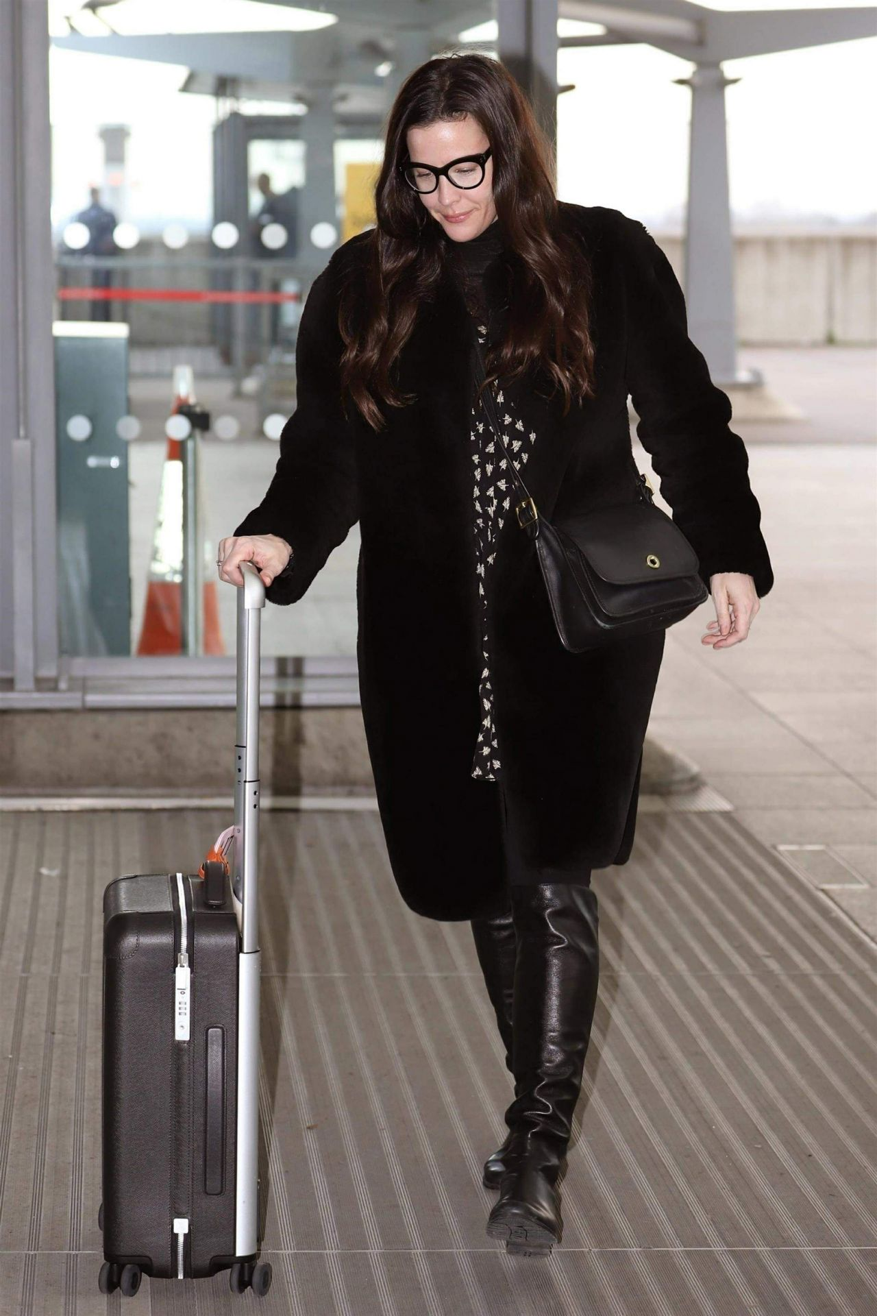 Liv Tyler In Travel Outfit Heathrow Airport In London 11