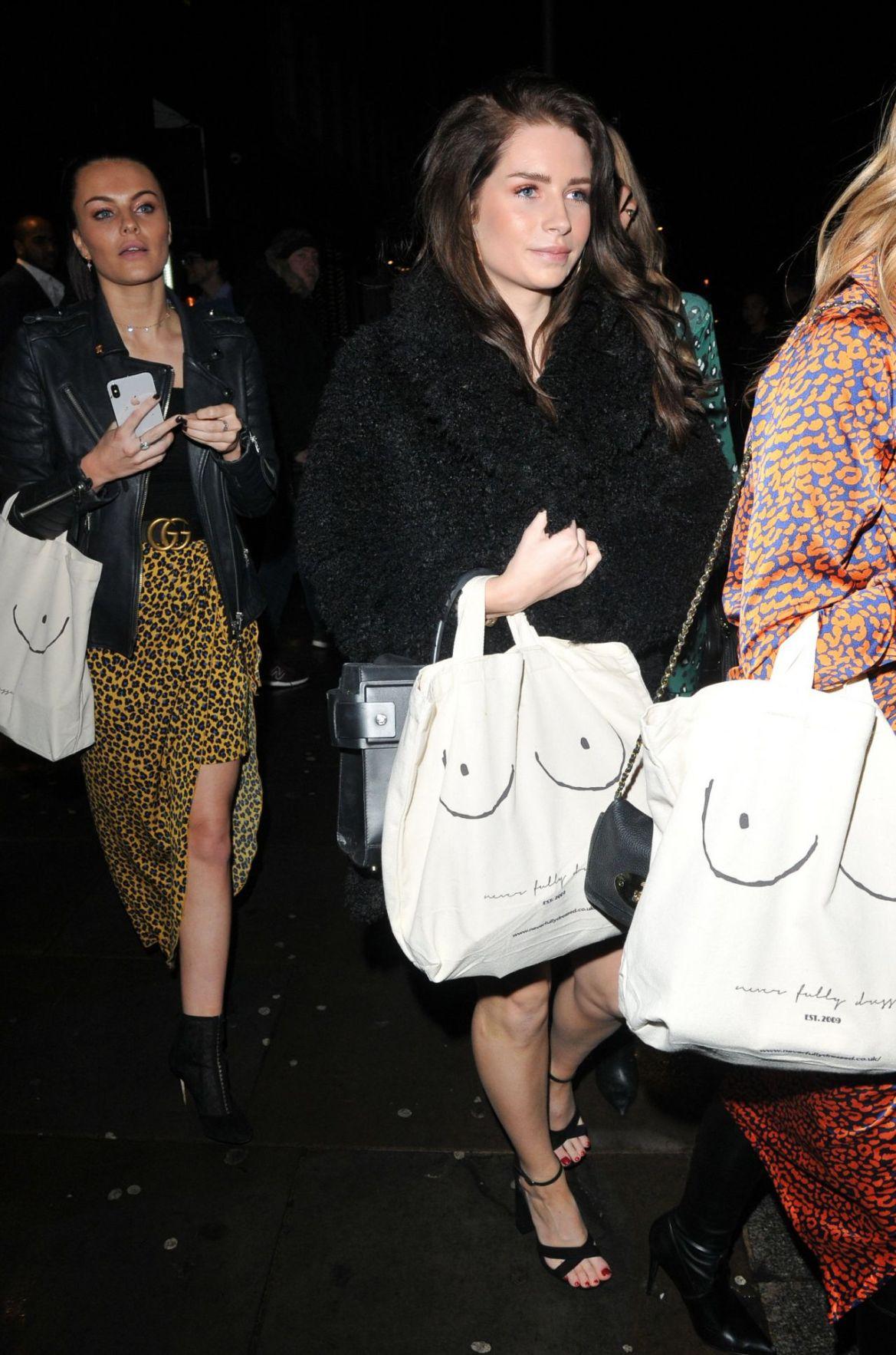 Lottie Moss – Arrives at The Never Fully Dressed VIP Festive Dinner in Londo