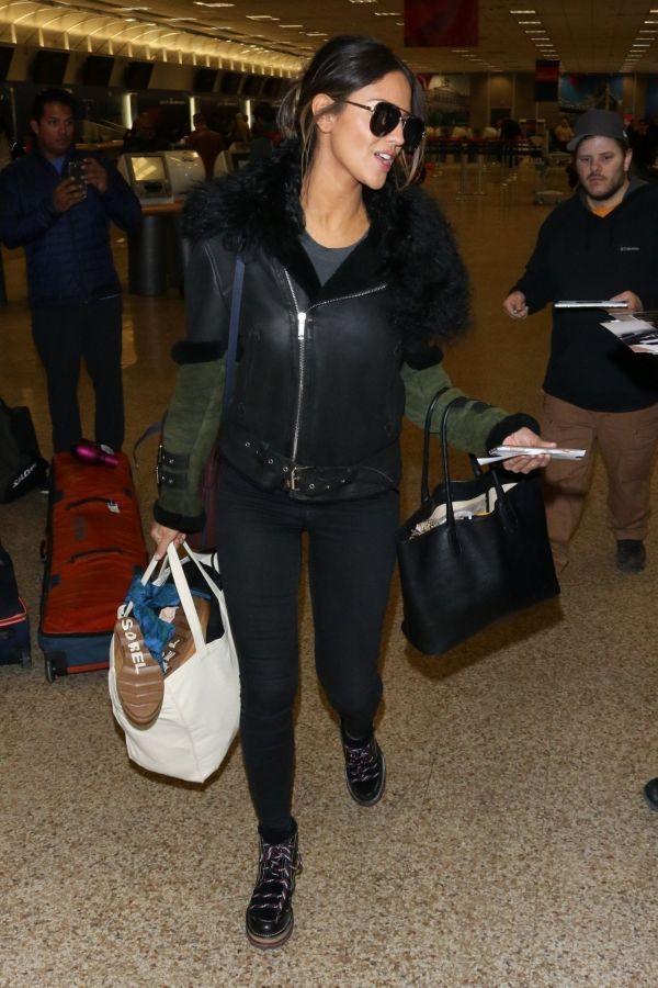 Eiza Gonzalez at the Salt Lake City Airport 01/27/2019