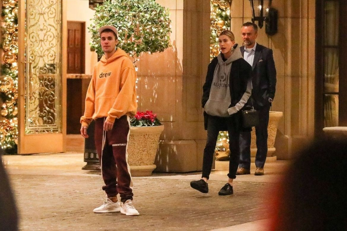 Hailey Rhode Bieber and Justin Bieber – Outside the Montage Hotel in Beverly Hills 01/02/2019