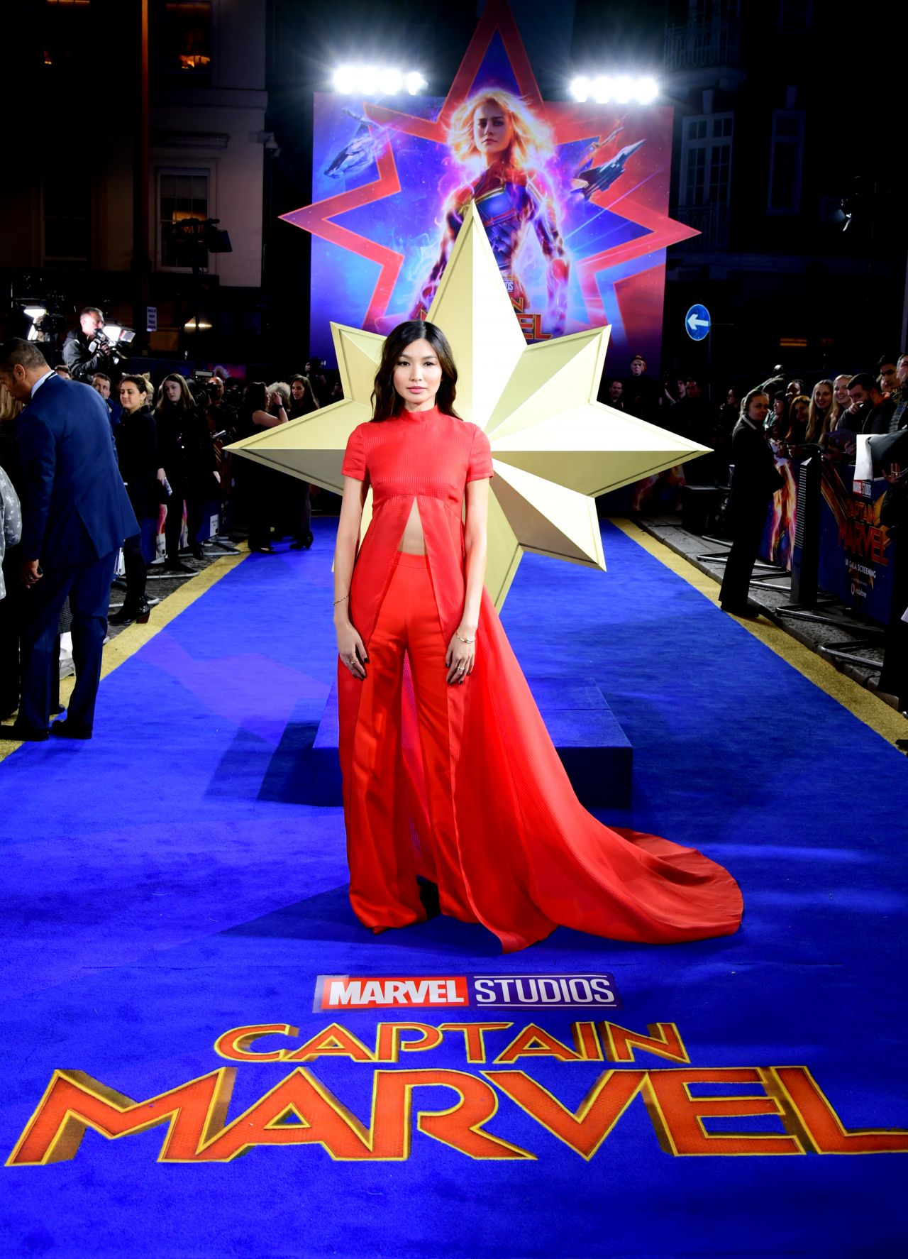 Gemma Chan Captain Marvel Premiere In London