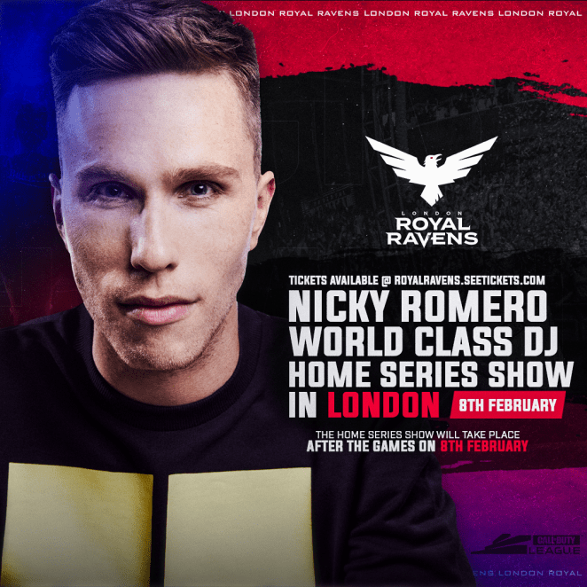 Nicky Romero at Call Of Duty League Event flyer