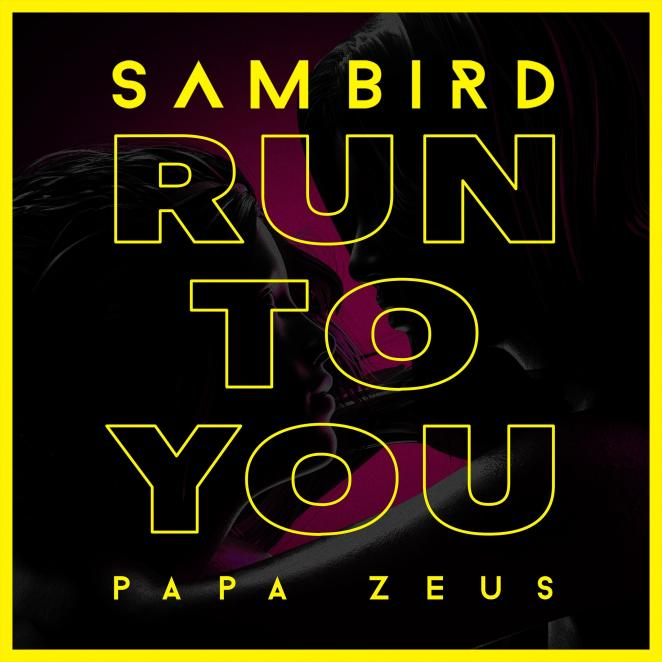 "Sam Bird and Papa Zeus - ""Run To You"" official single artwork"
