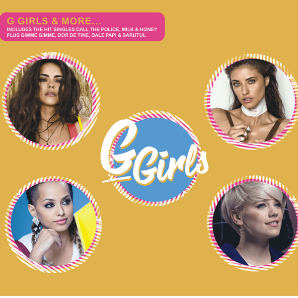 The G Girls & More album cover which sees INNA, Antonia, Lariss, and Lori on the cover in individual bubbles.