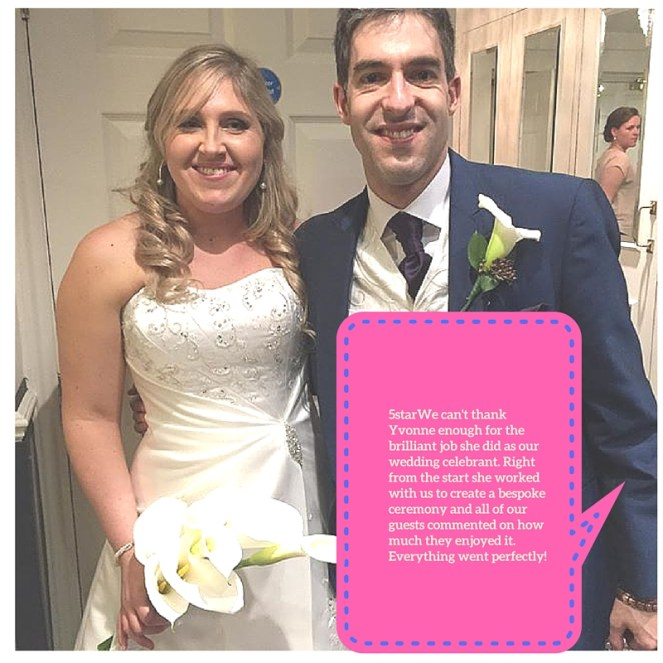 Great Feedback from a beautiful wedding Ceremony