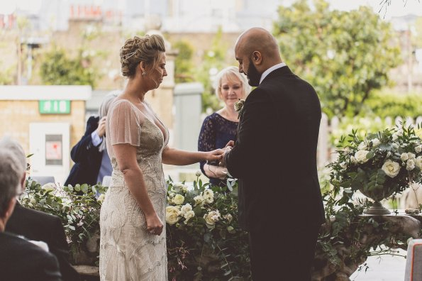 Beautiful romantic setting for an indoor/outdoor wedding!