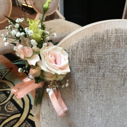 Flower decor on chairs