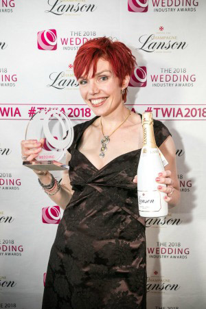 Clare Bradford winner of the TWIA celebrant of the year 2018