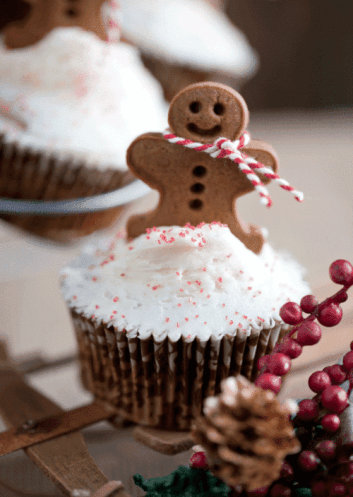 Gingerbread Cupcakes by Celebrate Creativity || Letters from Santa Blog