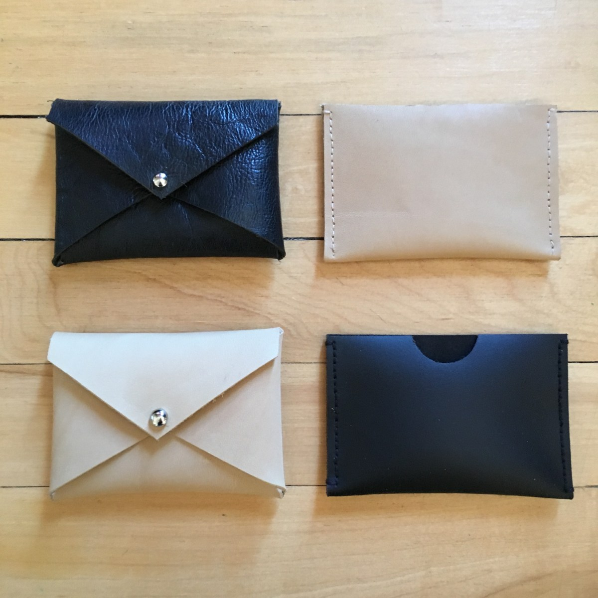Easy DIY Leather Gift Card Holders And Envelope Wallets