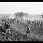 Marines during reenactment of Pickett's Charge at the battle of Gettysburg.