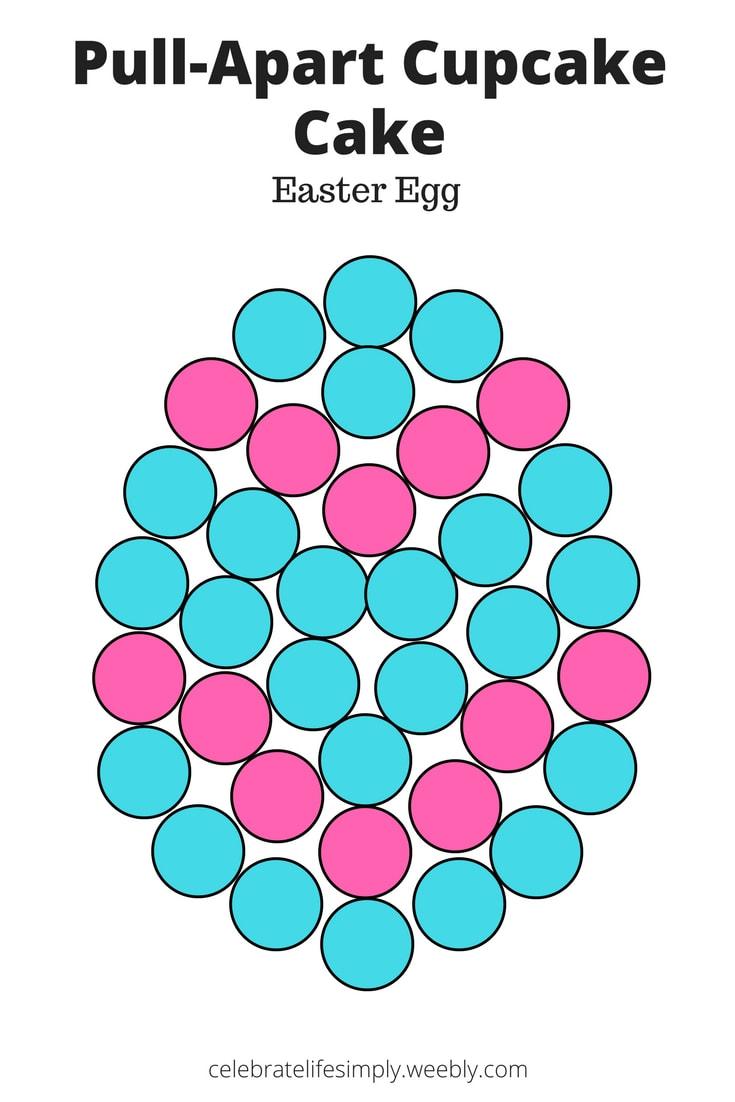 Easter Egg Pull Apart Cupcake Cake Template Celebrate